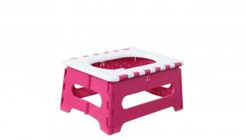 유온미 휴대용변기 세트 Hot pink & White